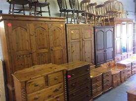 Quality used Solid wood / pine wardrobe