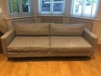 IKEA double sofabed grey fabric