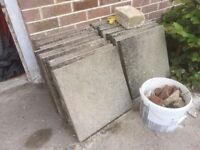 Concrete flagstones - free to a good home [Edit: now all gone]