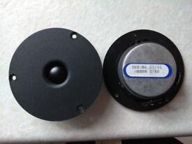 A pair of original soft dome tweeters from Monitor Audio R352 loudspeakers