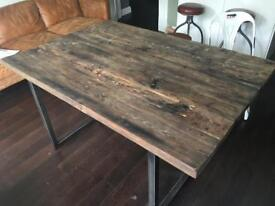 High end designer Industrial Style Dinning table