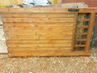 large pair of wooden gates
