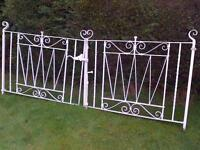 Beautiful vintage Victorian scroll-design wrought iron gates treated in lead-no corrosion.