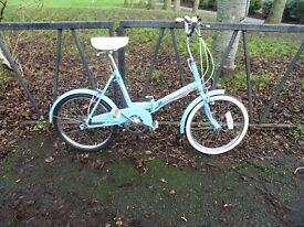 Vintage Folding Bicycle For Sale. VGC. Fully Serviced & Ready To Ride. Guaranteed. 3 Speed.