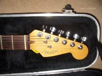 A 1995 FENDER STRATOCASTER USA WITH ORIGINAL HARDCASE!