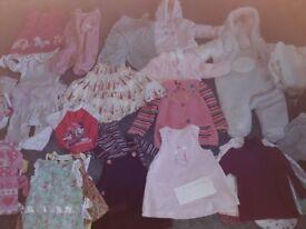 Baby girls bundle 3 to 6 months