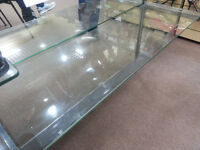 Shop fittings. Glass shelves