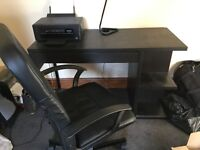 Executive Desk, Swivel Chair and USB Lamp