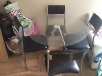 4 x dining chairs in fair condition