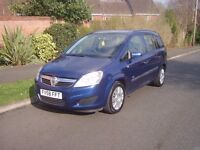 VAUXHALL ZAFIRA 1,6/58REG. MOT APRIL 2018/ONE FORMER KEEPER/A FULL REPORT WITH CAR