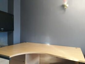 OFFICE DESK LARGE - EXCELLENT CONDITION - STRONG WOOD - BARGAIN
