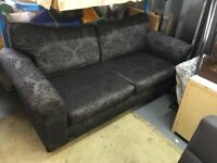Metallic black next two seater sofa (Delivery available)