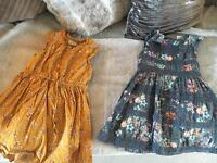 2 x Girls age 4 dresses from next
