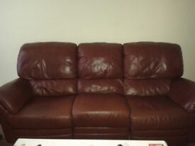 2 seater and 3 sester recliner leather sofa
