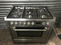 AEG Electrolux stainless steel range gas cooker and electric ovens 90cm