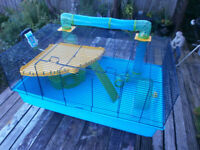 hamster cage large with full set up
