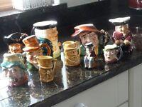 Vintage Toby jugs