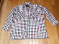 New Never Worn Mens Checked Padded Shirt Size XL (Looks more like XXL)Green, Red,White