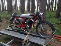 50cc classic cafe racer motorbike