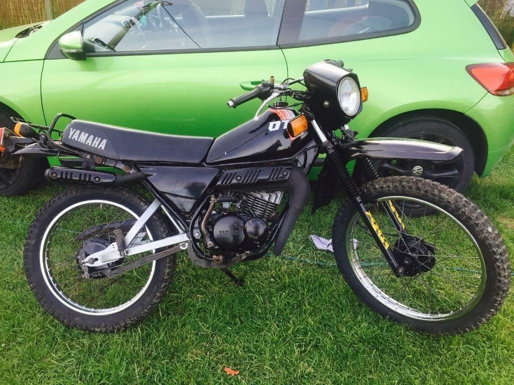 yamaha dt 80 cc not 125 1983 year vintage bike gold dust offers in ashley down bristol. Black Bedroom Furniture Sets. Home Design Ideas