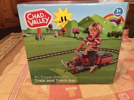 Brand New in Box Chad Valley 6 Volt Ride on Train 1+ Years old