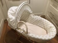 Mothercare Moses basket including bedding