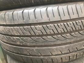 Pair of 225/40/18 tyres