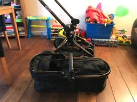 Mothercare orb all terrain pram and pushchair- cyber liquorice