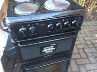 Black electric metal plates cooker 50cm. Cheap free delivery