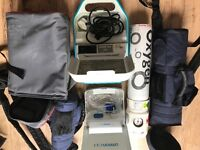 omroncx3, 3.5kg oxygen bottle and medic AC 2000 nebuliser+ spare plastic pipes etc