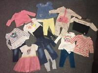 Bundle of baby girl clothes 6-9 mths.