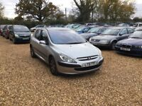 2001 Peugeot 307 1.6 5dr Diesel 7 Months MOT 2 Keys Leather Seats Cheap Car