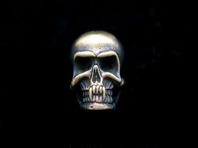 Pin  3 D Pin Anstecker Totenkopf Skull Deathhead Biker Motorrad Rocker
