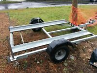 Lightweight motorcycle trailer for 2 bikes or sidecar outfit