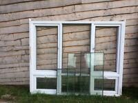 WHITE UPVC WINDOW. SOME GLASS INC