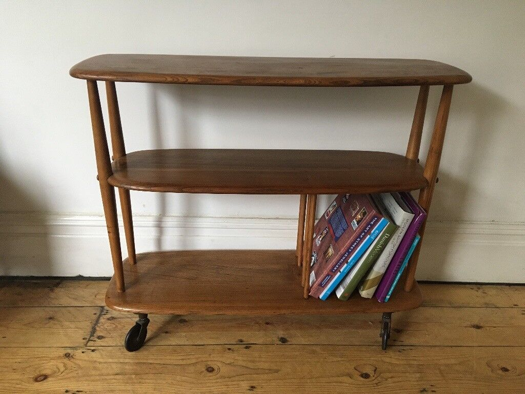 Ercol Bookcase Small Room Divider Mid Century Lovely Vintage