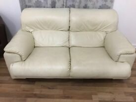 Cream leather sofas for sale