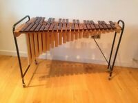 Sonor concert xylophone, 3 octaves, trolley style, wooden bars