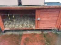 Outdoor rabbit/guinea pig hutch