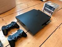 Sony Playstation 3 Slim 250GB black with 8 games