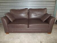 Genuine Marks & Spencer Brown Leather 2-seater Sofa (Suite)