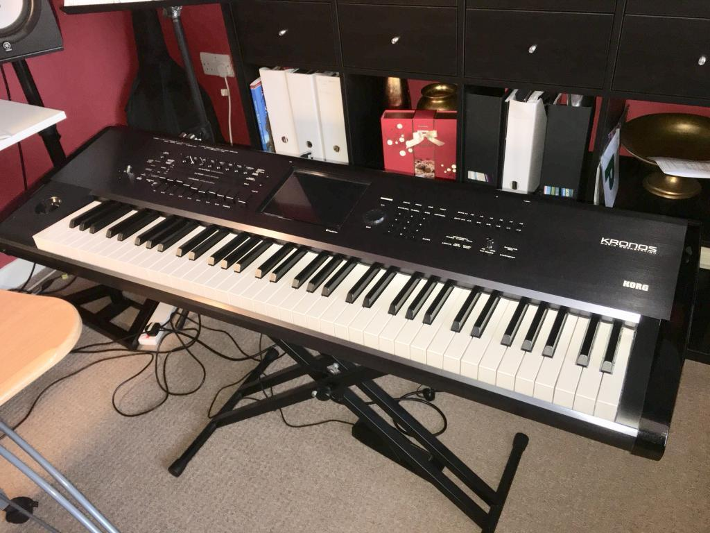 KORG KRONOS 73 piano-weighted keys + Hard Case + Stand + Pedal + Manual |  in Pollokshields, Glasgow | Gumtree