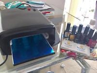 UV lamp gel nail set