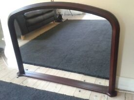 Overmantle Mirror, as new