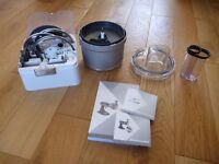 KitchenAid Food Processor Attachment (5KSM2FPA) & Accessories **ONLY USED ONCE**