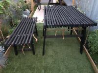 Garden Table and Bench - As seen Rowen & Wren website