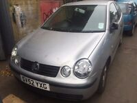 """Volkswagen Polo 1.2 - 52 reg, """"Breaking for parts"""" call to ask."""