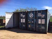 Self Storage units available to hire - 20 foot shipping containers