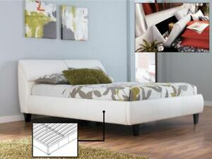 Platform Bed with Storage in Headrest (IF814)