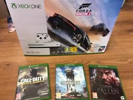Xbox one S 4k + games with warranty and receipt